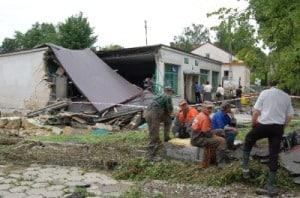 Gmina Wielopole – dzień po katastrofie – galeria ZDJĘĆ