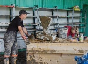 Usuwanie skutków powodzi Wielopole 29 czerwca – galeria ZDJĘĆ