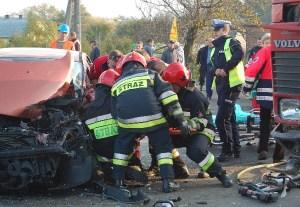 Dwie osoby ranne w wypadku – galeria ZDJĘĆ