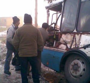 Chwile grozy w autobusie