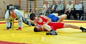 Zapaśnicze mistrzostwa w Lubzinie – galeria ZDJĘĆ