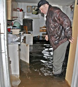 Woda wdarła się do domu