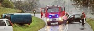 Skoda uderzyła  w auto strażaków – galeria ZDJĘĆ