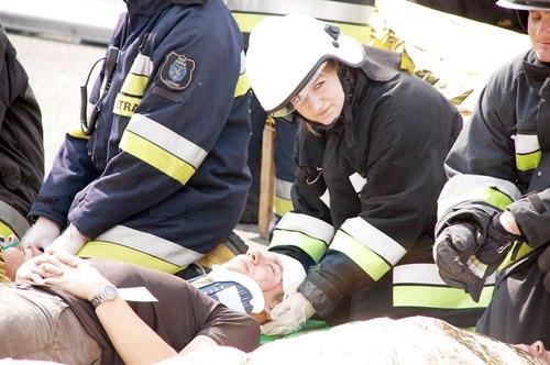 Strażacy sprawdzali się na A4 – galeria ZDJĘĆ