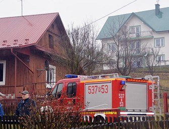 Pożar domu w Zagorzycach – ZDJĘCIA